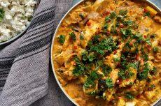 Kycklingcurry med aubergine