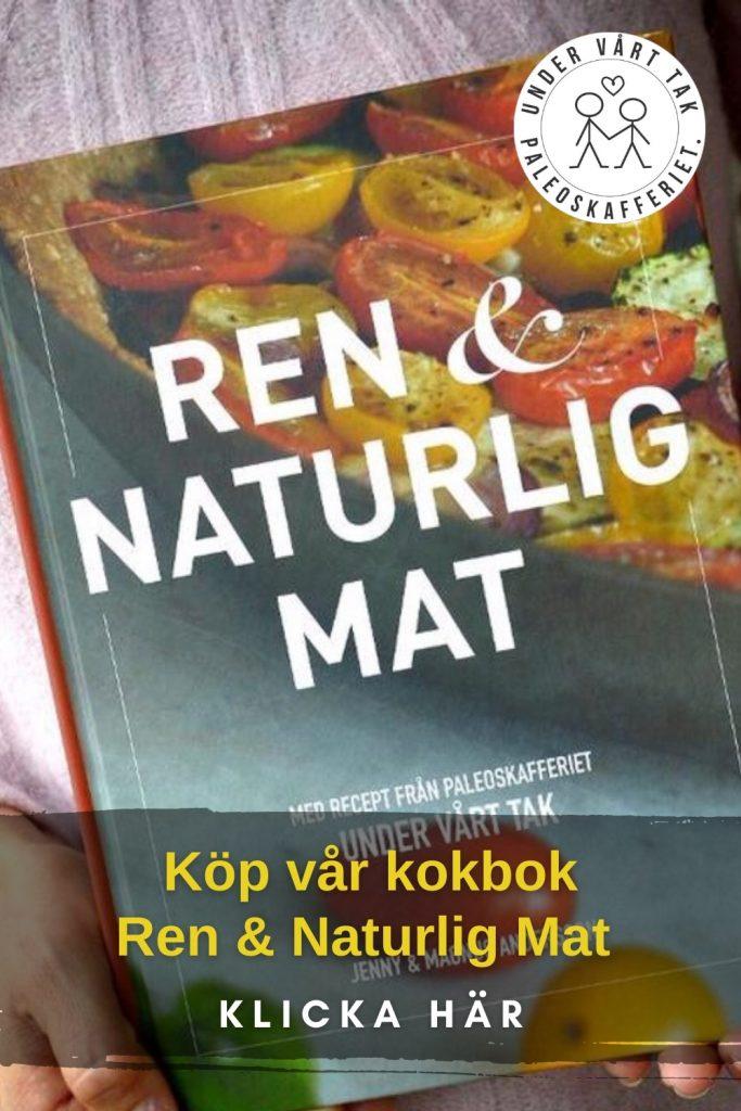 Annons för kokboken Ren & Naturlig Mat